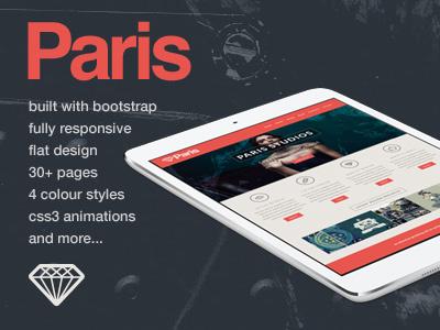 Paris - Responsive HTML5 Template themeforest responsive html5 themes