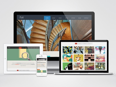 Flati Bootstrap Now On Wordpress wordress themeforest flat flat design wodpress template