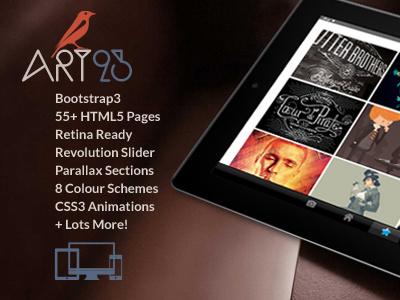 Art23 - Creative Html5 Portfolio Template themeforest responsive html5 themes bootstrap3