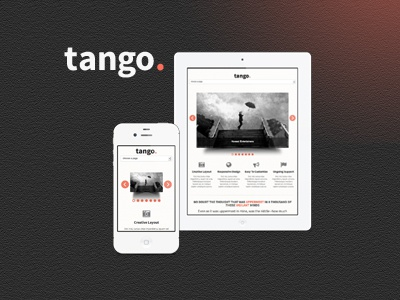 Tango - Responsive HTML5 Template html5 responsive template themeforest web design
