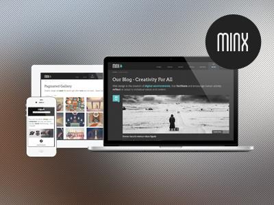Minx - Responsive HTML5 Template themeforest responsive html5 themes