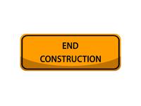 End Construction Sign