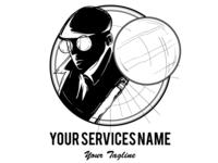 Detective Service Logo Template