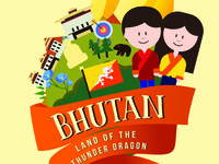 Bhutan Luggage Tag