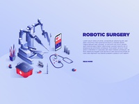 Robotic surgery service banner template