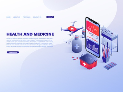 Digital health medical technologies service web template