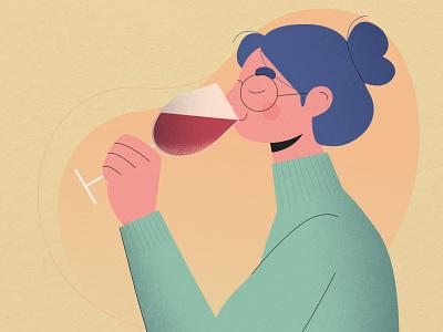 How to taste wine wine bottle instagram banner instagram infographic head hand hair cloth photoshop vector illustration art design wine label alcohol drink smell taste vino wine