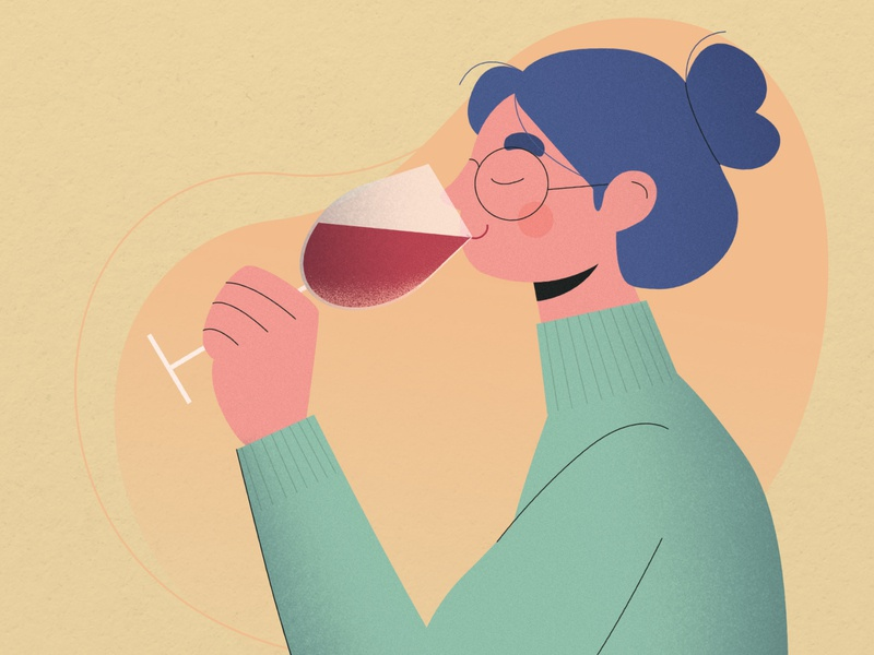 How to taste wine wine bottle instagram banner instagram infographic head hand hair cloth photoshop vector illustration art design wine label alcohol drink smell taste vino wine