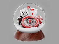 Christmas snow globe with roulette