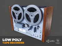 Tape Recorder Lowpoly 3d