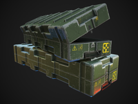 Game ready model of a Military Weapons Crate