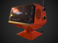 Retro Television Low-poly 3D model