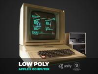 Apple II retro computer low-poly