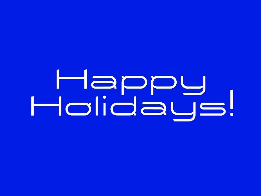 Happy Holidays! studio new year custom font type font vector illustration art typogaphy design holiday card christmas holiday
