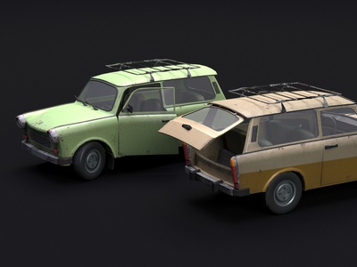 Trabant 601 kombi trabant photoshop 3dsmax art design 3d oldtimer retro vehicle car