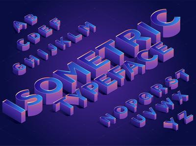 Isometric typeface