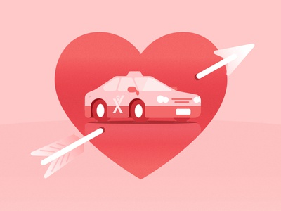 Happy Valentine's Day heart love car taxi valentinesday valentines valentine mytaxi