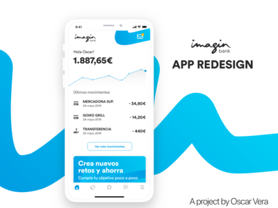 ImagineBank App redesign concept
