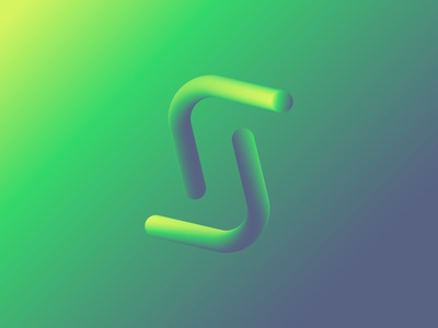S gradient dribbble typedesign stroke arrow vector brand type 3d technology design branding green s typography