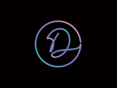 D Type Logo typedesign type art gradient brand branding minimalist 3d monoline typography logo dribbble 2020 design