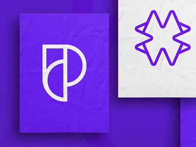 Logo Designs linework texture premium mockup layout poster presentation p identity mark graphic  design type purple premium creative logo design logo dribbble branding brand design