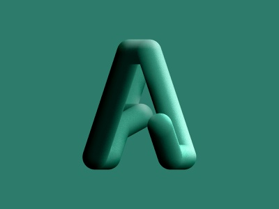 A type design texture noise green typogaphy typeface 3d creative graphic  design dribbble typeart type letter psd premium psd brand design