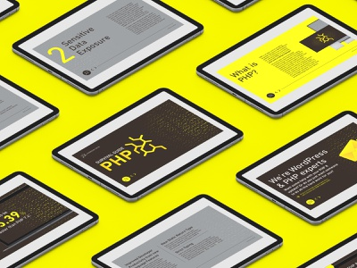 PHP Survival Guide wordpress guideline guide type identity creative graphic  design branding dribbble grid layout clean minimal design layout typography whitespace yellow grid