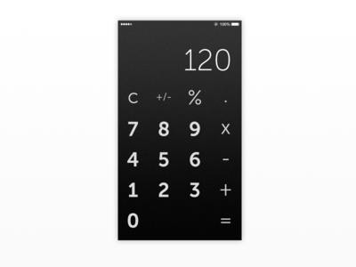 #DailyUI 004 - Calculator