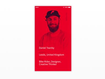 #DailyUI 005 - Profile Page