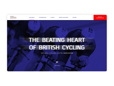 National Cycling Centre Manchester Landing Page