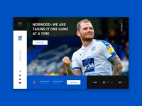 Tranmere Rovers Homepage Redesign