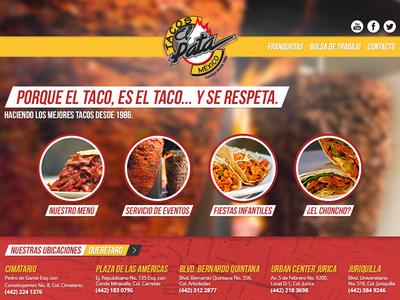 Tacos El Pata web wordpress