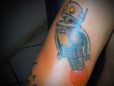 Robot tattoo robot