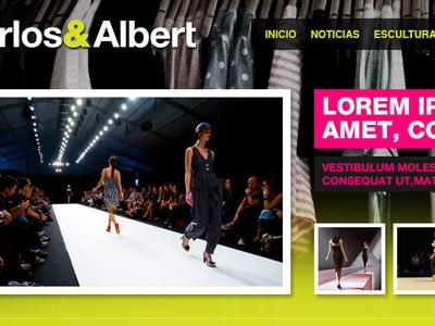 Carlos & Albert web wordpress fashion bright
