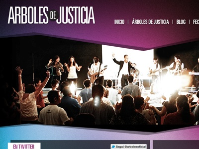 Arboles de Justicia web wordpress jquery photoshop