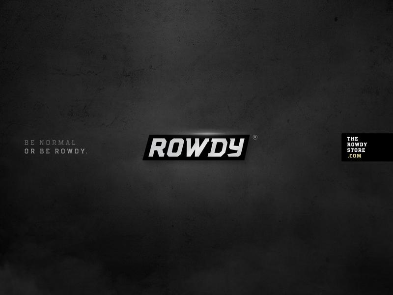 Rowdy Logo Design branding agency logotype brandlogo branding design branding logos freelance freelancer logodesign rowdified rowdystore therowdystore rowdy logo