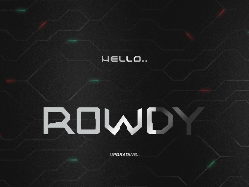 ROWDY logo design therowdystore rowdystore futuristic hello poster sifi logo rowdified rowdy