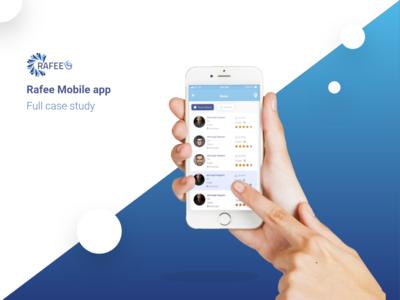 Rafee Mobile app UI/UX Case Study