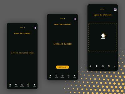 Music App UI Exploration large type music app music dark mode ux ui product design layout