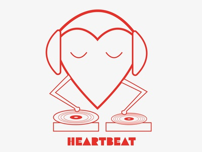 Heartbeat childrens illustration dribbbleweeklywarmup valentinesday charachter design illustration dribbble best shot illustration art personal project illustrator flat design vector art