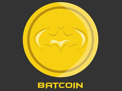 The Batcoin funny illustration joke bitcoin batman illustration design pun dribbbleweeklywarmup illustration illustration art dribbble best shot personal project illustrator flat design vector art