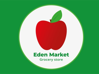 Eden Market grocery store identity design identity dribbble best shot weeklywarmup brand identity brand design branding flat design logo design logodesign logo