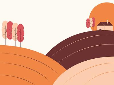 """We love challenge"" illustration hills monferrato illustration digital landscape illustration art vector illustration design illustrator illustration flat design vector art"