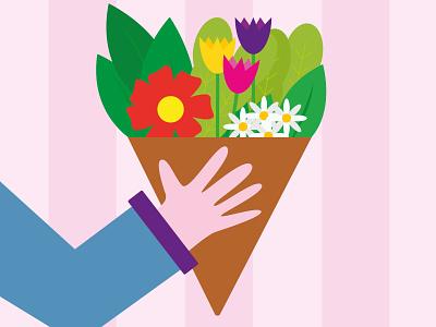 Mother's Day 2021 flower illustration mothersday illustration art childrens book childrens illustration flat design dribbble best shot illustrator vector art