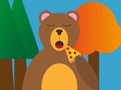 Pizza bear pizza bear illustrator childrens book illustration art dribbble best shot childrens illustration illustration charachter design personal project flat design vector art