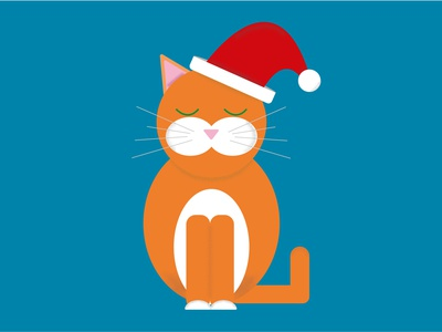 Santa christmas cat childrens illustration charachter design illustration design illustration illustration art dribbble best shot illustrator personal project flat design vector art