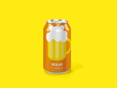Beearrrrr beer label beverage design beer can branding and identity branding design branding illustrator personal project vector art