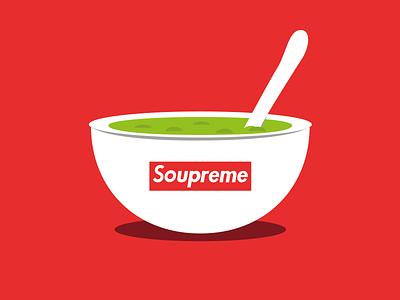 Soupreme food illustration brand funny illustration dribbble best shot illustration art personal project illustrator flat design vector art supreme