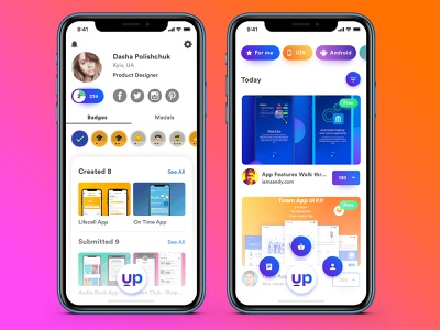 Redesign Uplabs App Concept uplabs app ui ios mobile sketch