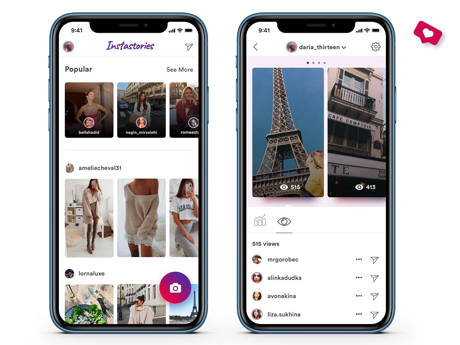 Best Instagram story viewer: for Uplabs Instagram Redesign Challenge by Dasha Polishchuk  on Dribbble